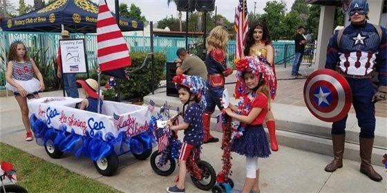 Residents enjoying Brea's Country Fair event