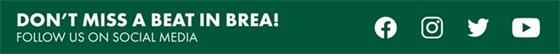 Don't miss a beat in Brea! Follow us on social media