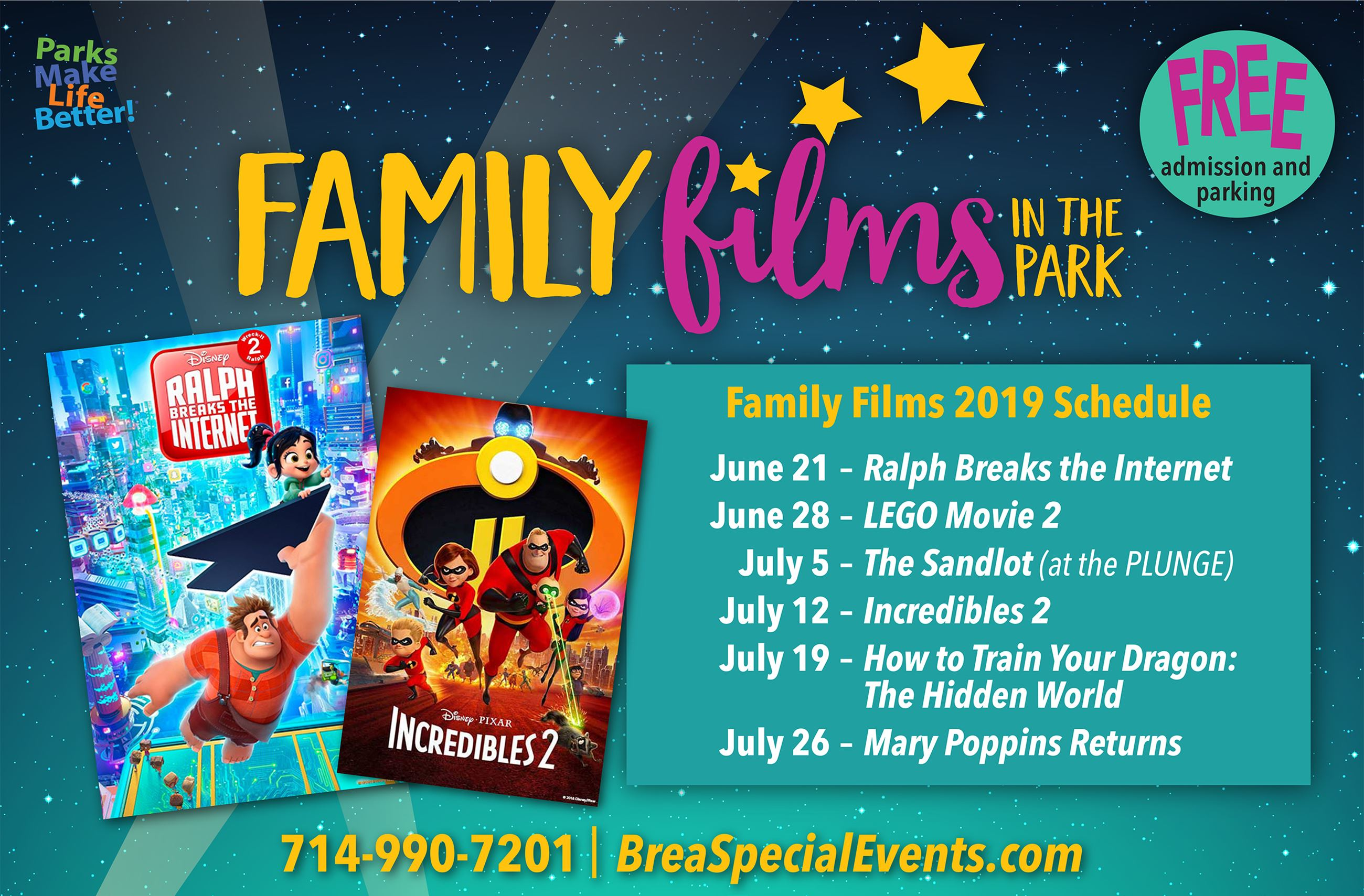 Orange County Free Summer Movies 2019 - Fun Orange County Parks
