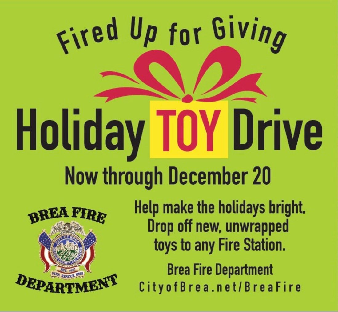 Fire Toy Drive Square Graphic