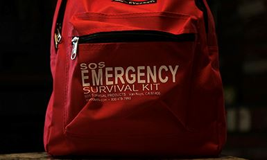 Picture of an Emergency Survival Kit Backpack