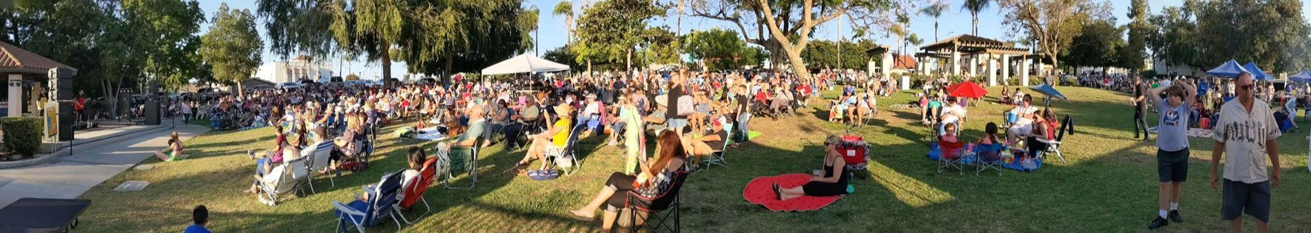Concerts in the Park 2019 - Alley Cats Panoramic 2