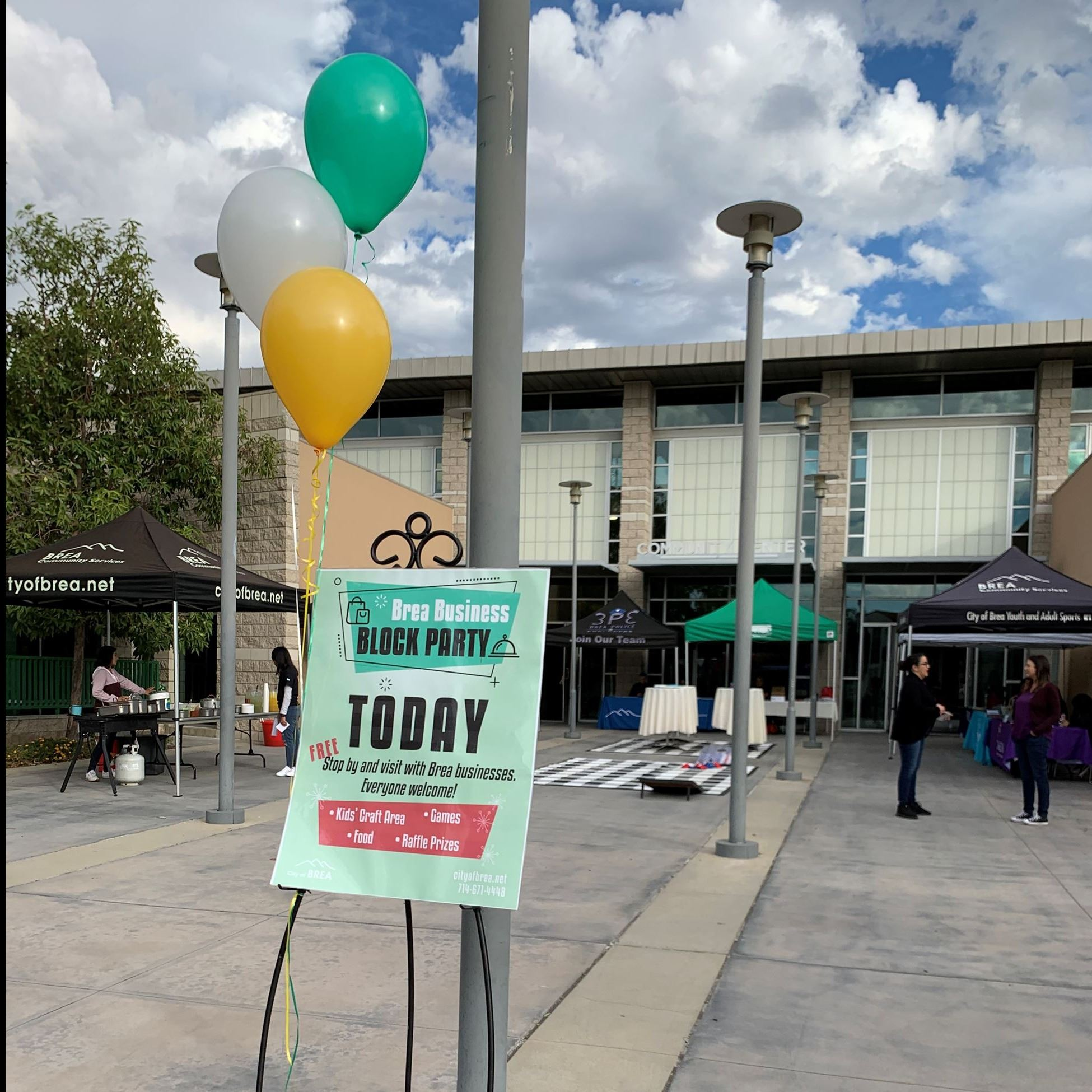 Brea Business Block Party Sign