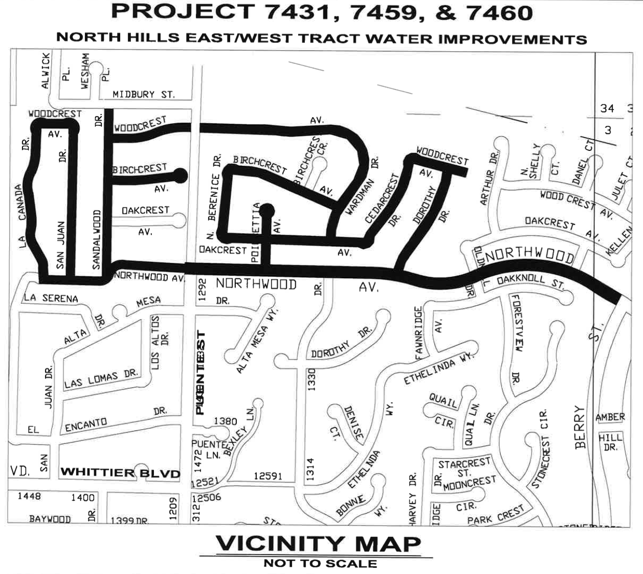 North Hills Map