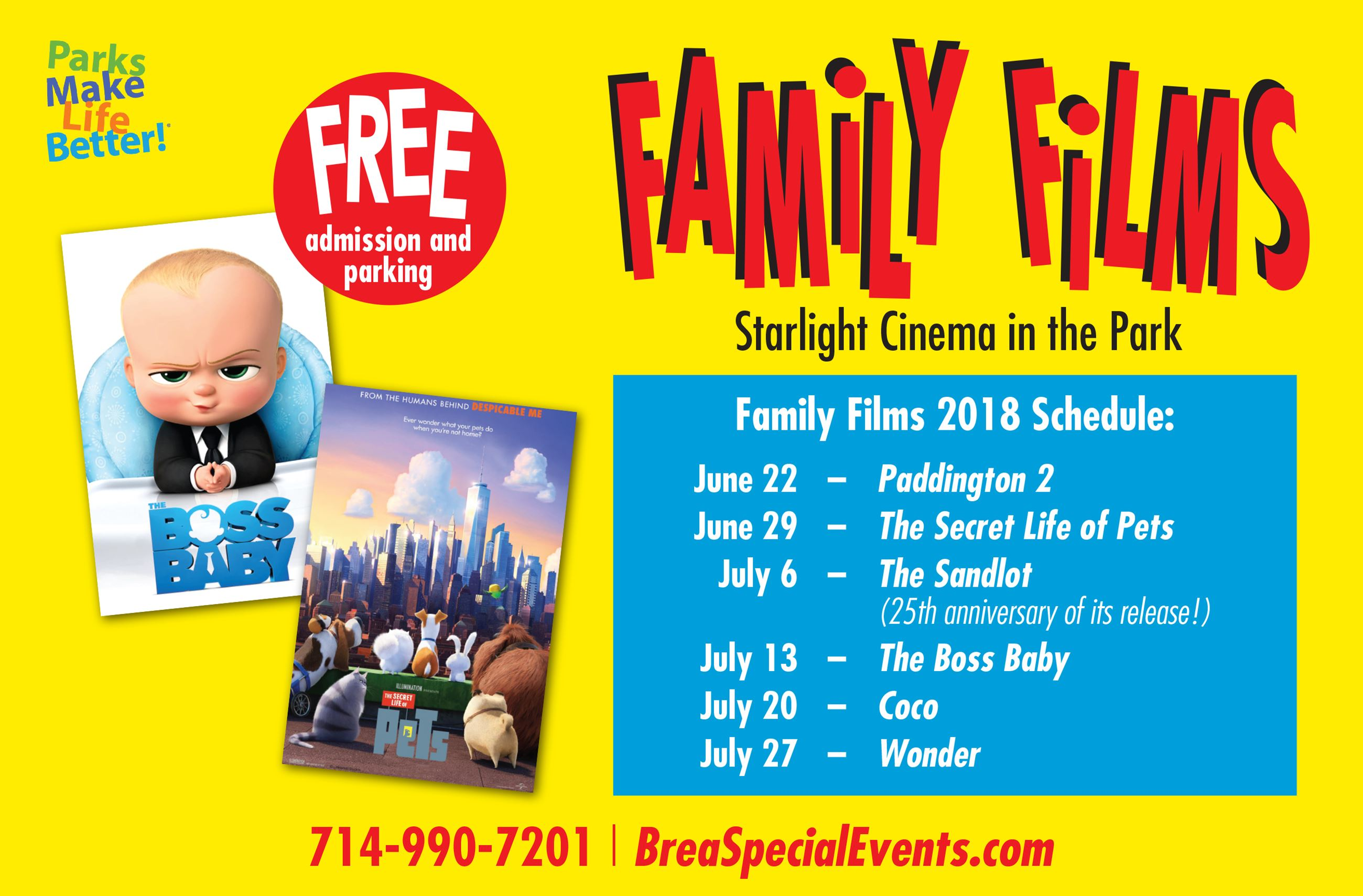 family films visix 18 all dates