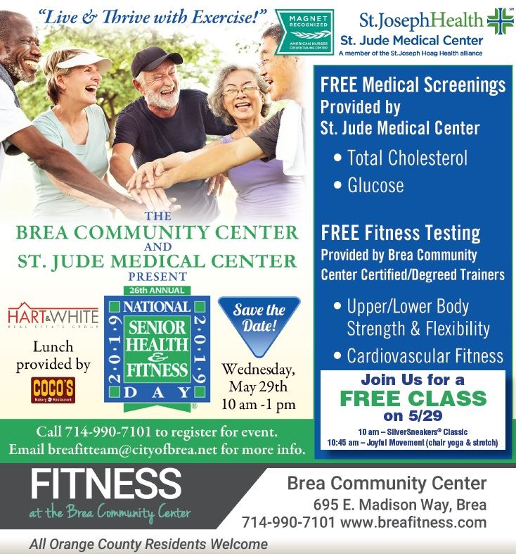 Sr Health and Fitness Day Save the Date image
