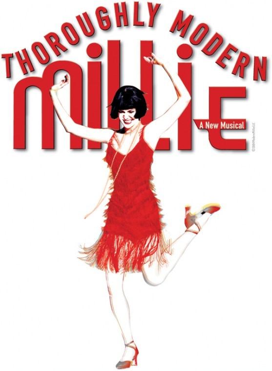 show logo: Thoroughly Modern Millie