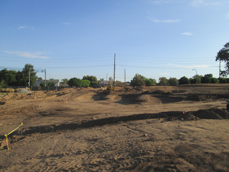 Photo showing early construction on hole #3 Birch Hills Golf Course