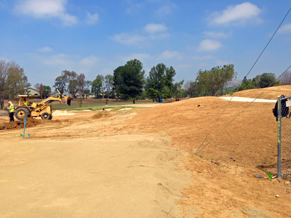 Grading Birch Hills Golf Course Hole #14 (July 2014)