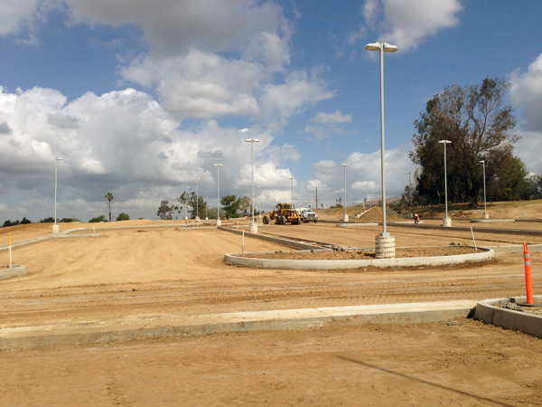 Photo of Birch Hills parking lot being constructing