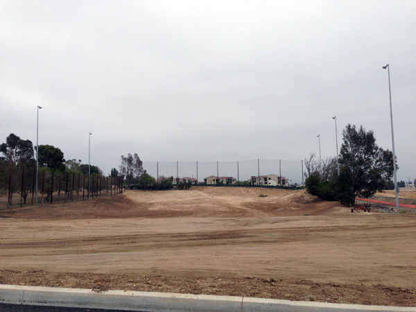 Photo of Birch Hills golf course driving range under construction