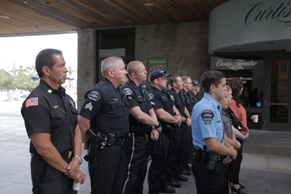 Brea Police and Fire Attend Ceremony