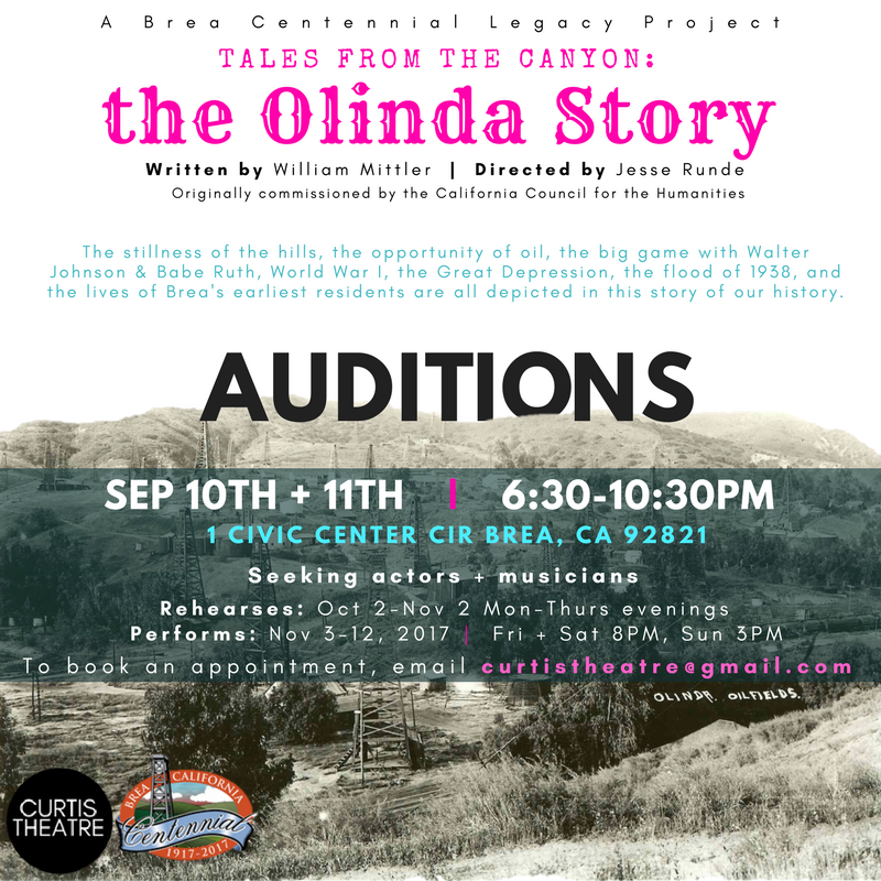 Audition for The Olinda Story